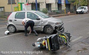 Viterbo - Incidente a viale Baracca
