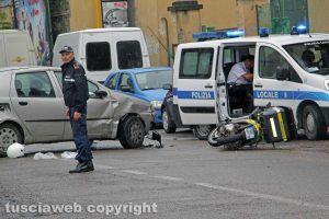 Viterbo - Incidente a viale Baracca
