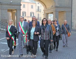 Viterbo - 68esima giornata per le vittime degli incidenti sul lavoro - Il corteo dell'Anmil