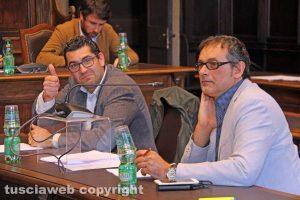Viterbo - I consiglieri Giacomo Barelli e Massimo Erbetti