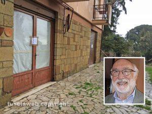 Giallo di Ronciglione - La casa dove è stata trovata la donna morta nel congelatore - Nel riquadro il professor Traverso