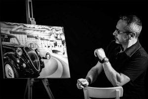 Motori - Massimo Beretta dona una tela al museo Taruffi di Bagnoregio