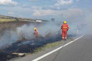 Tarquinia - Un intervento su un incendio