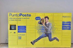 Un locker di Poste italiane
