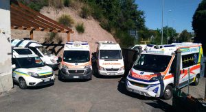 Le ambulanze della Misericordia Viterbo