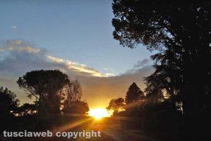 Sutri - Il tramonto dopo una giornata di pioggia