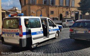 Viterbo - Scia d'olio tra piazza San Faustino, via Amendola e piazza della Rocca