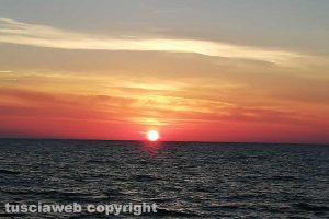 Tarquinia - Il tramonto sul mare