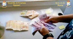 Narcotraffico, operazione Napaho della Guardia di finanza - I soldi sequestrati