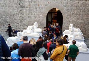 Viterbo - Egizi - Tutti in fila per vedere la mostra di Tutankhamon