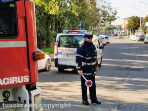 Intervento di vigili del fuoco e polizia locale - Foto di repertorio