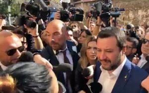 Roma, il ministro Salvini a San Lorenzo