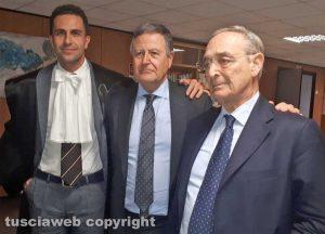 Processo Cev - Claudio Ciucciarelli (al centro) con gli avvocati Fausto Barili e Carlo Taormina