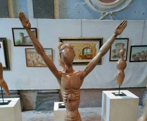 Canepina - Le sculture in legno in mostra