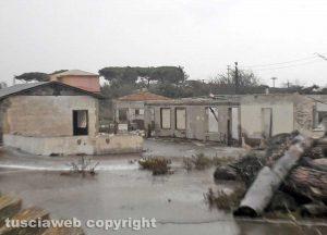 Tarquinia - La mareggiata sul litorale