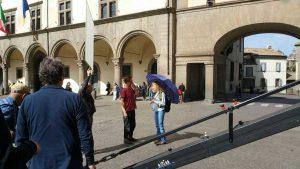 Troppa Grazia - Le riprese a piazza del Comune