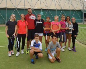 I ragazzi del tennis club Orte e del Cus Viterbo