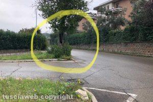 Viterbo - L'incrocio di via Ticino