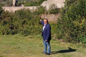 Viterbo - Il vicesindaco Contardo al parco Gilberto Pietrella