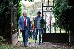 Acquapendente - Il sindaco Ghinassi all'apertura del bosco del Sasseto