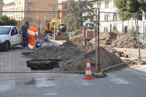 Viterbo - I lavori a piazza della Rocca