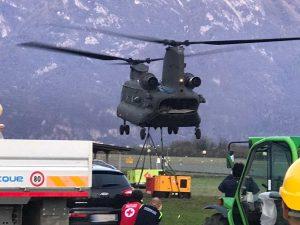 """Maltempo - L'intervento del Reggimento dell'aviazione dell'esercito """"Antares"""""""