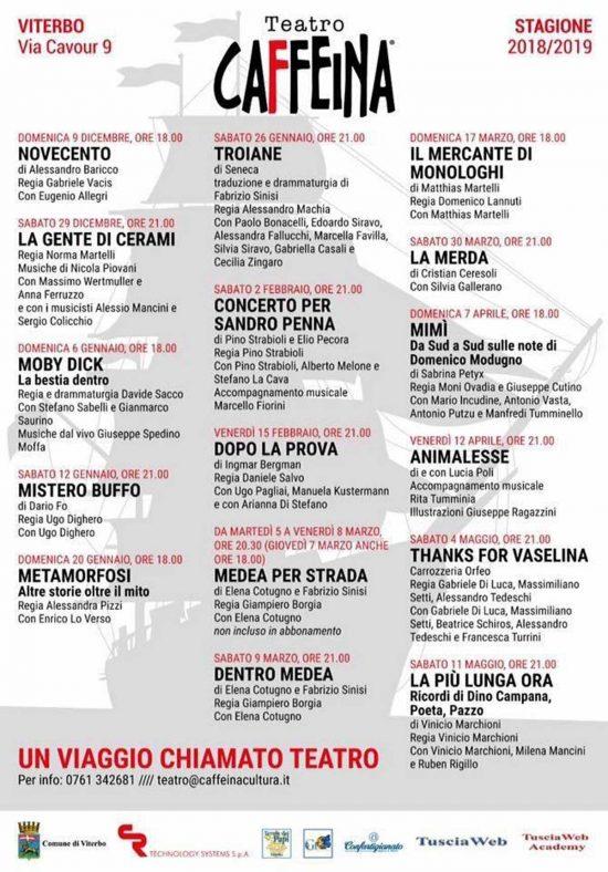 Viterbo - La stagione del teatro Caffeina