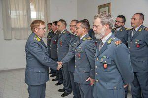 Viterbo - Guardia di finanza - Il comandante del Lazio Michele Carbone al comando provinciale