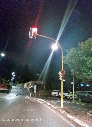 Viterbo - Semaforo in via della Ferrovia