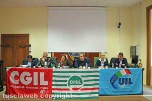 Viterbo - L'incontro di Cgil, Cisl e Uil