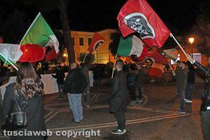 Vetralla - La manifestazione di Casapound a piazza Marconi