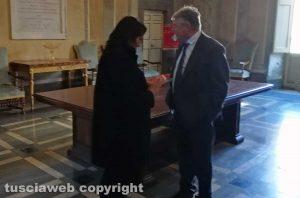 Viterbo - Comune - Salcini e Fusco a fine riunione del centrodestra