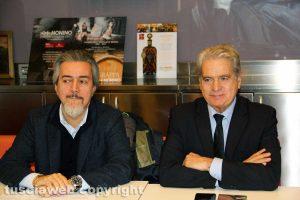 Viterbo - La conferenza stampa sulla manovra economica - Francesco Battistoni e Giovanni Arena