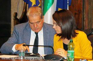 Viterbo - Consiglio comunale - Giovanni Arena e Claudia Nunzi