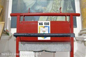 Viterbo - La cassa di 150 per la prova di portata