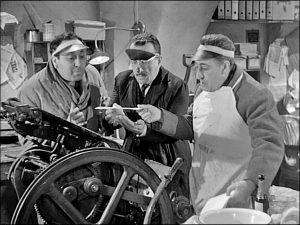 """Viterbo - Una scena del film """"La banda degli onesti"""""""