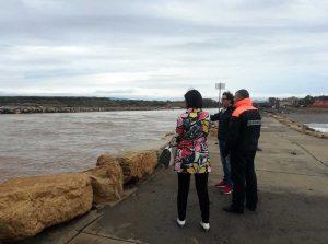Montalto di Castro - Sopralluogo del Comune e della Guardia costiera alla foce del fiume Fiora