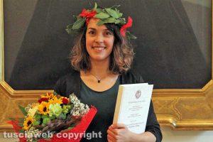 Torino - Valentina Taschini il giorno della laurea