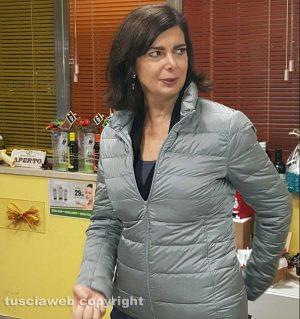 Viterbo - Laura Boldrini al frantoio