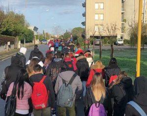 La protesta degli studenti di Montalto di Castro