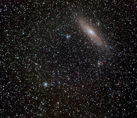 La cometa 64P/Swift-Gehrels e la galassia di Andromeda