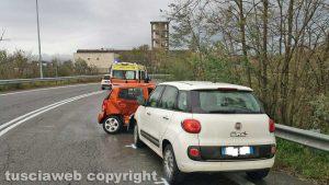 Viterbo - L'incidente sulla Superstrada
