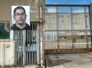 Viterbo - Il carcere di Mammagialla - Nel riquadro: Claudio Tomaino
