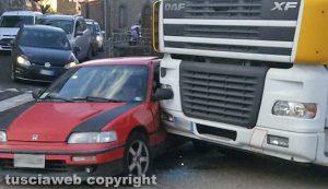 Montefiascone - L'incidente a piazzale Roma
