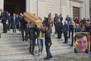 Tarquinia - I funerali di Omero Bordo - Nel riquadro: Omero Bordo