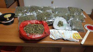 Cerveteri - La droga sequestrata dai carabinieri della stazione di Ladispoli