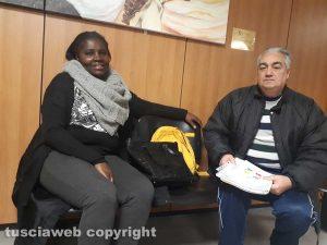 I volontari Lukusa Thsiele e Gian Carlo Mazza