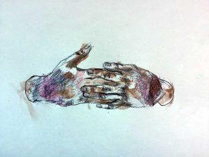 Viterbo - Il disegno dell'artista Davide Dormino