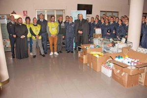 Viterbo - La scuola marescialli dell'aeronautica militare in sostegno del'Emporio solidale