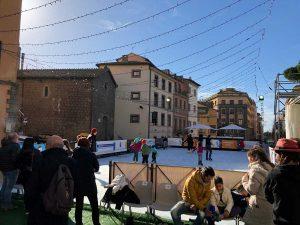 Viterbo - La pista di pattinaggio a piazza Verdi